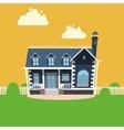 House building cartoon vector image