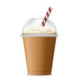 ice coffee icon realistic style vector image