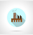 industrial building flat round icon vector image vector image