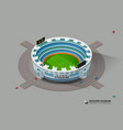 isometric soccer football stadium vector image