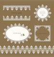 lace decorative frame and border set lacy doilies vector image vector image