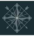 Line navigation star vector image