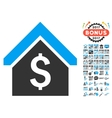 Loan Mortgage Icon With 2017 Year Bonus Pictograms vector image vector image