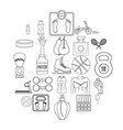 lustiness icons set outline style vector image