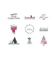 merry christmas- and icons lettering vector image