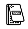 mobile phone linear icon vector image vector image