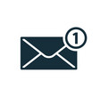 new message notification icon vector image vector image
