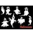 Night halloween ghosts set vector image vector image