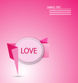 Origami Paper Message love Graphic vector image vector image