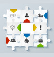 parts puzzles with icons business concept vector image
