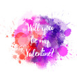 pink and purple valentine splash vector image vector image
