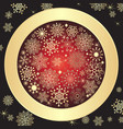purple christmas vintage frame vector image vector image