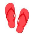 red summer flip flops vector image