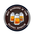 Round Beverage Coaster Color vector image