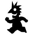 runner happy stencil vector image vector image
