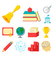 school and education cartoon icons in set vector image