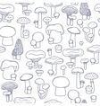 seamless mushrooms pattern vector image vector image