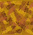seamless pattern autumn leaves vector image vector image