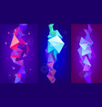set 3d geometric shapes facet vertical vector image vector image
