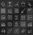 set concrete and cement concept outline icons vector image vector image