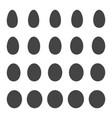 set egg shape egg patterns vector image