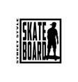 skateboard street style t-shirt design vector image vector image