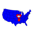 state of arkansas vector image vector image