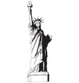 statue liberty icon vector image vector image