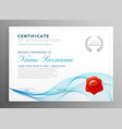 stylish blue certificate of appreciation template vector image vector image