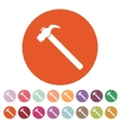 The hammer icon Hammer symbol Flat vector image