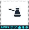 turkish coffee icon flat vector image vector image