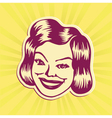Vintage mid-century smiling woman face