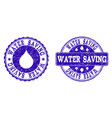 water saving grunge stamp seals vector image vector image