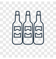 wine bottles concept linear icon isolated on vector image vector image
