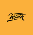 winter calligraphic text vector image vector image