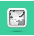 Gears tech icon vector image