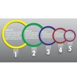 Modern business circle options banner vector image