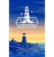 Colorful lighthouse symbol for any navigation vector image