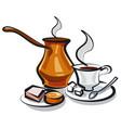 traditional turkish coffee vector image