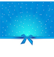 abstract blue background with bow gift and copy vector image