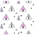 Wigwam kid seamless pattern vector image