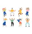 12-dancing-characters vector image