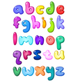 3d bubble lower case alphabet vector