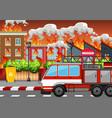 A village on fire