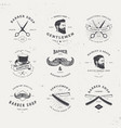 barber shop logo set vector image vector image