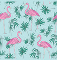beautiful tropical seamless pattern with pink vector image vector image