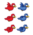 Bird Flying Animation Sprite vector image vector image