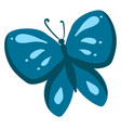 blue butterfly on white background vector image vector image
