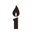 Candle icon vector image