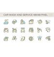 car wash and service icon set design 48x48 pixel vector image vector image